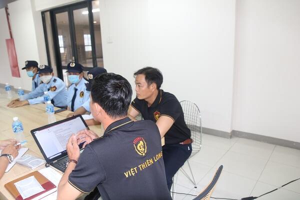 Bảovệ Việt Thiên Long tổ chức tập huấn nghiệp vụ cho nhân viên